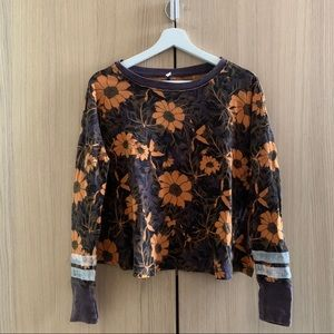 Free People floral long sleeve graphic t-shirt